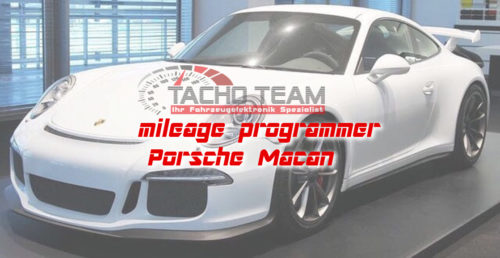 mileage stopper Porsche Macan